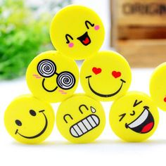Cute Smile Face Rubber Eraser Dentist Dental Clinic School Kid Great Gift 60pcs #Haodental