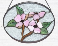 Stained Glass Dogwood Window Panel