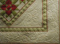 A Fabric Playground: Turning The Quilt When Quilting Borders
