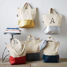 BAGGU DIPPED TOTE | Sporttasche, Einkaufstasche, Strandtasche mit Monogram
