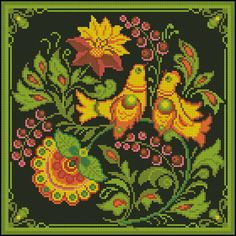 Gallery.ru / Фото #47 - Мои перенаборы в РМ-2 - Tatjana-vas Cross Stitch Cushion, Cross Stitch Bird, Cross Stitch Borders, Cross Stitch Designs, Cross Stitching, Cross Stitch Embroidery, Embroidery Patterns, Cross Stitch Patterns, Art Nouveau Pattern