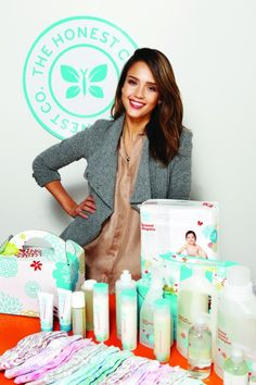 "Inspired by the book ""Healthy Child, Healthy World,"" actress Jessica Alba, age 31, realized how difficult it would be for an average mom to keep her house toxin free. So she founded The Honest Company which offers monthly deliveries of nontoxic diapers and cleaning products to busy moms"
