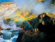 Valley of the Geysers, Russia The landmark is located on the Kamchatka peninsula and comprises of hundreds living geysers.