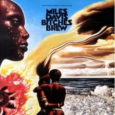 "On March jazz musician Miles Davis released the album ""Bitches Brew."" The album is thought by many to be the most revolutionary album in jazz history - what do you think? Best Album Art, Greatest Album Covers, Classic Album Covers, Cool Album Covers, Music Album Covers, Lps, Cool Jazz, Lp Cover, Vinyl Cover"
