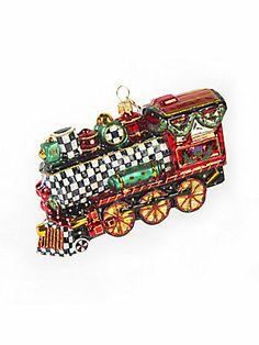MacKenzie-Childs Train Ornament