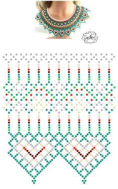 Diy Necklace Patterns, Seed Bead Patterns, Beaded Jewelry Patterns, Loom Patterns, Beading Patterns, Beading Techniques, Beading Tutorials, Bijoux Fil Aluminium, Bead Loom Bracelets