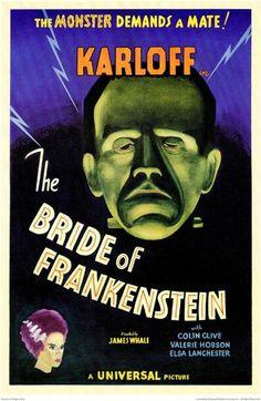 The Bride of Frankenstein Vintage Movie Poster