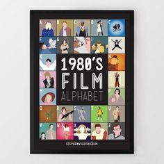 Poster Films van de jaren '80 van A-Z van Steven Wildish