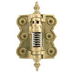 """2-7/8"""" x 3-1/8"""" Brass Adjustable Self-Closing Screen Door Hinge - Matte Brass"""