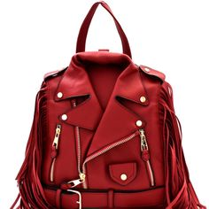 Buy directly from the world's most awesome indie brands. Or open a free online store. Backpack Purse, Fashion Backpack, Vegan Leather Jacket, Black Leather Backpack, Fringe Fashion, Leather Fringe, Balenciaga City Bag, Moto Jacket, Bangs