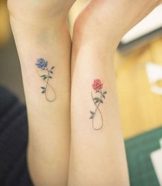 Tattoo rose infinity