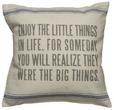 Rustic Little Things Accent Throw Pillow