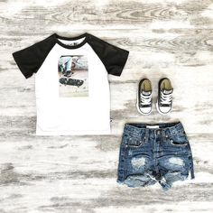 Toddler Boys Clothes ~ Minti Boys Skate Park Tee, OneTeaspoon Denim Shorts & Classic Converse Sneakers  www.tinystyle.com.au  #minti #iloveminti #mintiboys #boysclothes #boysfashion #streetwear #kidsclothing #coolkids #coolkidsclothes #oneteaspoon #oneteaspoonkids #kidsdenim #oneteaspoondenim #tinystyle #noosa #noosakids #toddlerboysclothes Toddler Boy Outfits, Toddler Boys, Cool Kids Clothes, Skate Park, Converse Sneakers, Black Denim Shorts, Chuck Taylors, Streetwear, Child