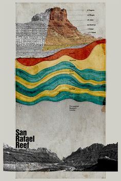 "San Rafael Reef - Rock Study 20""x30"""