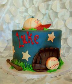 Sports Baby Boy Cake Baby Boy Cakes, Cakes For Boys, Baby Shower Cakes, Baseball Theme Birthday, 2nd Birthday, Birthday Ideas, Cupcake Birthday Cake, Cupcake Cakes, Sports Themed Cakes