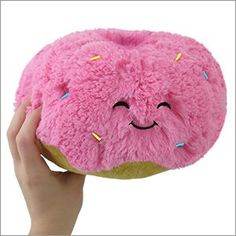 Kawaii Squishables strawberry donut plush with rainbow sprinkles! Food Pillows, Cute Pillows, Diy Pillows, Decorative Pillows, Donut Decorations, Cute Stuffed Animals, Cute Plush, Squishies, How To Make Tea