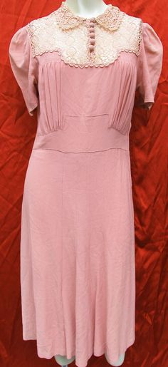 30s Peach Rose Pink Day Dress & Bolero Jacket w by blondbomber, $99.99