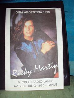 Raridade! Um folheto da tour de @ricky_martin na Argentina em 1993! (via @gracieal)  #CoisasdeFã #Lindo