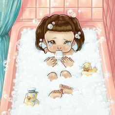 Threw a toaster in the bathtub