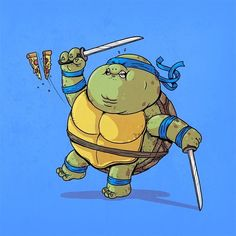 BROTHERTEDD.COM - xombiedirge: Famous Chunkies: TMNT Series by... Cartoon Cartoon, Fat Cartoon Characters, Ninja Turtles Art, Teenage Mutant Ninja Turtles, Cultura Pop, Tmnt, Geeks, Alex Solis, Fat Character