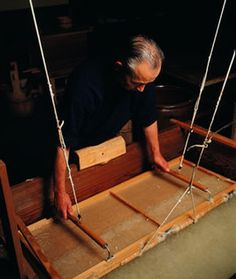 National Living Treasure of Japan as a Washi (Japanese paper) maker, IWANO Ichibei (1933)