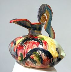 Betty Woodman- Feathered Pillow Pitcher