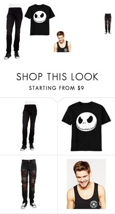 """nightmare litterly look at it .o."" by annaskye-dws ❤ liked on Polyvore featuring Hudson Jeans, Toni&Guy, men's fashion and menswear"
