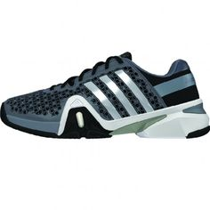 on sale c5630 3f3b7 Adidas adiPower Barricade 8 Mens Tennis Shoe M25343 Grey-Silver-Black Nike  Tennis Shoes