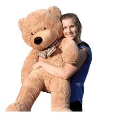 "Joyfay 47"" Giant Teddy Bear, Light Brown, 3.9ft, Birthday Christmas Valentine Gift - Walmart.com - Walmart.com Large Teddy Bear, Giant Teddy Bear, White Teddy Bear, Teddy Bears, Giant Plush, Big Plush, Big Stuffed Animal, Stuffed Animals, Stuffed Toys"