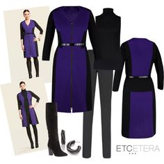 COLORBLOCK belted shift-dress or topper | Etcetera Fall 2013 | www.etcetera.com