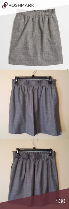 """J. Crew Pleated Mini Skirt in Flecked Wool NWOT Color is pictured in first image, the lighting in my house isn't as great as in J. Crew's studios 😉 Wool/poly/viscose rayon. Sits at waist. 17 1/2"""" long. Elastic waistband. On-seam pockets. Lined. J. Crew Factory Skirts Mini"""