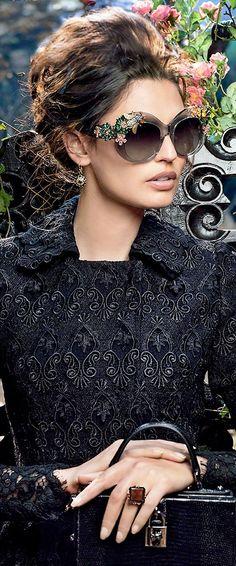 Dolce & Gabbana. Adelanto de gafas de sol para el invierno 2015. #eyewear #tendencias
