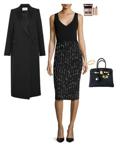 """""""Go out to dinner after work"""" by stylev ❤ liked on Polyvore featuring Lela Rose, Charlotte Tilbury, Hermès, Cartier and PALLAS"""