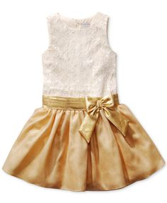 Sweet Heart Rose Girls' Metallic Bow Dress - Kids Special Occasion - Macy's