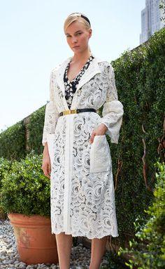 Caroline H resort 2014  #guipure #lace  in fashionable #white