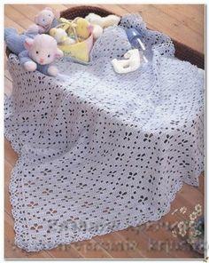 Mis Pasatiempos Amo el Crochet: 30 Patrones gratis de mantillas de bebé crochet y dos agujas
