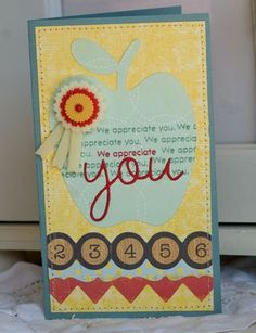 Give a Hoot Cricut cartridge along with a Jenni Bowlin ribbon, some Papertrey stamps and Crate Toy Box borders.