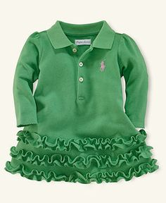 Ralph Lauren Baby Dress, Baby Girls Ruffle Polo Dress