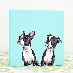 Tiny, adorable little pet portraits by Yellow Brick Home.