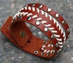 handmade+leather+bracelets | Braided Leather Cuff Bracelet Tibetan Handmade…