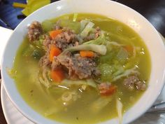 Carrots, onions, celery, green beans, sweet sausage, chicken stock & cabbage