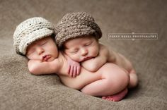 Twin newborn hat baby girl boy newsboy visor caps for spring photos --- oatmeal barley denim neutral colors on Etsy, $32.00
