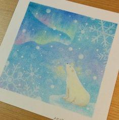 Soft Pastel Art, Pastel Drawing, Teaching Drawing, Watercolor Moon, Winter Painting, Japanese Characters, Mini Paintings, Art Tips, Aurora