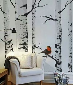 Wall murals add color to the walls and create a delightful atmosphere in the rooms. These are a few tips on choosing wall murals. Mural Painting, Mural Art, Wall Art, Wall Paintings, Tree Wall Murals, Inspiration Wand, Design Inspiration, Wall Design, House Design