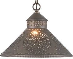 punched tin pendant lighting - Google Search