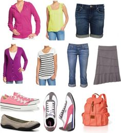 what to wear to disney: cute blog pist with great ideas. you'll have tons of pictures and be walking 5 miles a day. Def. need to put some thought into what everyone will be wearing.