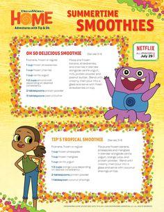 DreamWorks Home Smoothie Recipes
