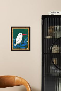 White Kingfisher Wall Art | Anthropologie
