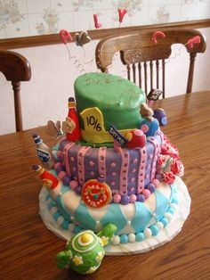 Disney Alice In Wonderland Birthday Cake and Cupcake Ideas