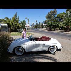 White Porsche 356 Speedster